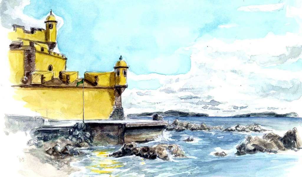 Vue de l'autre Fort  fort-jaune