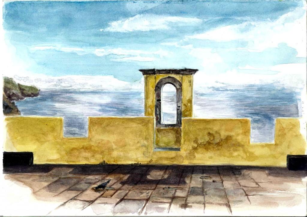 Vue du Forte do pico fort